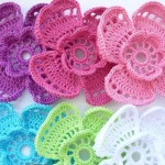 4 Petal Flower Crochet Pattern