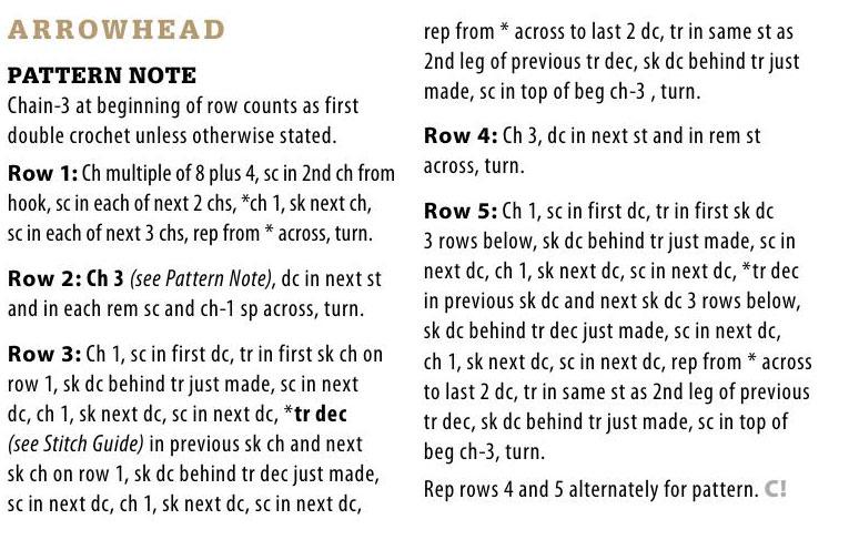 crochet-arrowhead-stitch-pattern