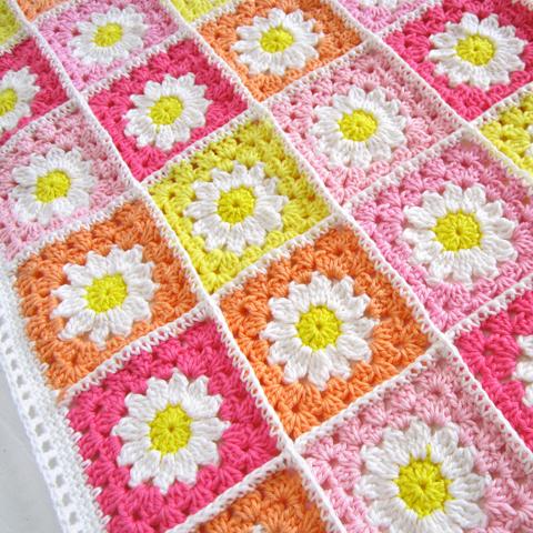 Crochet Daisy Flower Blanket Pattern : Daisy Crochet Blanket Pattern ? Crochet Kingdom