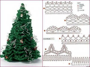 crochet christmas tree pattern 1