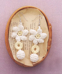Crochet Dangling Earrings