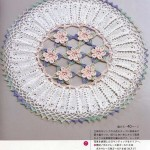 Circular Doily with Flowers Crochet Pattern