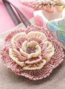 crochet flower multi layer