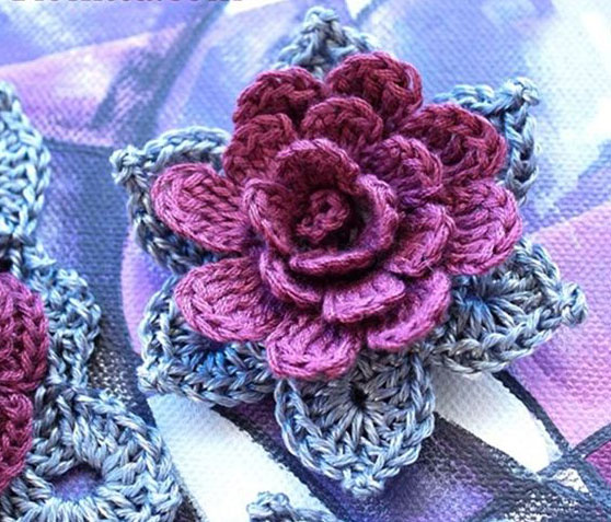 3D Crochet Flower Pattern ? Crochet Kingdom