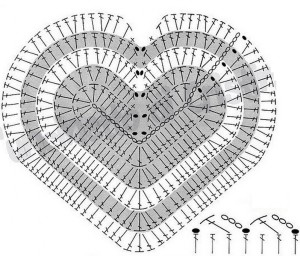 crochet heart shaped rug pattern 1
