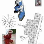 Crochet Ice Skates Christmas Ornaments