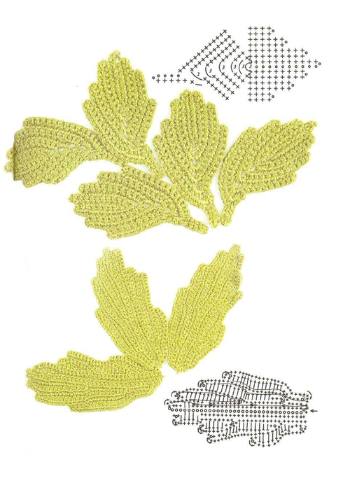 crochet leaves 2