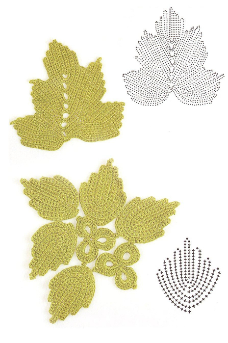 crochet leaves 3