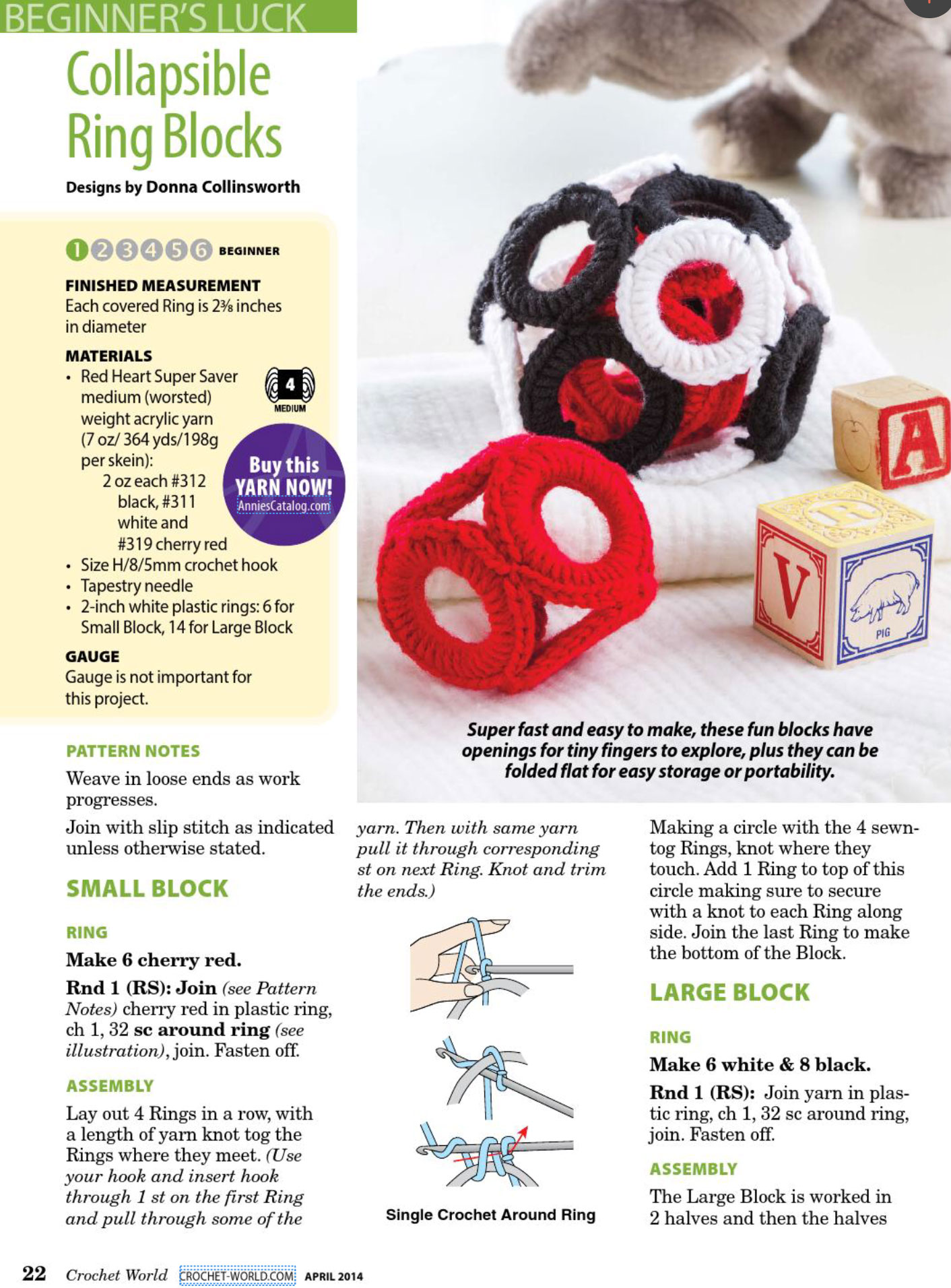 Free Easy Crochet Patterns For Baby Toys : crochet-ring-blocks-baby-toy-pattern ? Crochet Kingdom