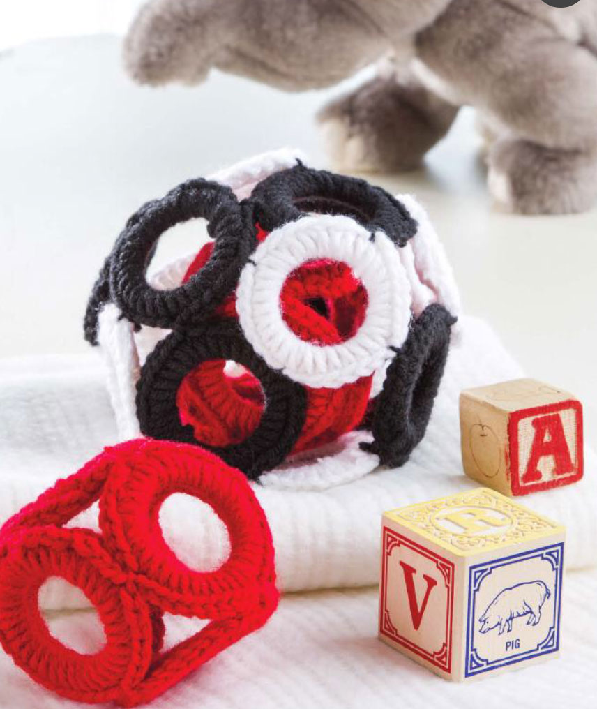 Free Easy Crochet Patterns For Baby Toys : crochet-ring-blocks-baby-toy ? Crochet Kingdom