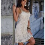 Summer Mesh Crochet Dress