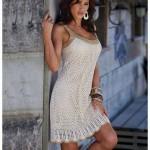 Summer Mesh Crochet Dress