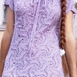 Lavender Swirls Crochet Dress