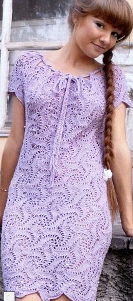 crochet swirls dress