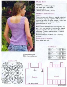crochet tank with squares 1