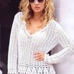 Crochet Top with Long Sleeves