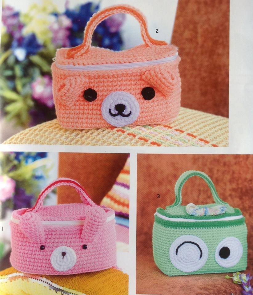 Crochet Animal Bag Free Pattern : Cute Animal Bag Crochet ? Crochet Kingdom
