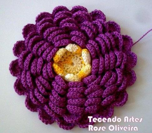Crochet Flower Pattern Dahlia : Dahlia Crochet ? Crochet Kingdom
