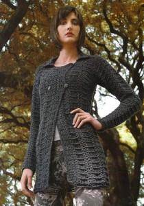 double breast crochet jacket