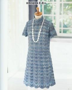 fan crochet mod dress
