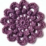Circle Flower Crochet Pattern