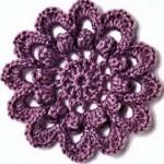 Circle Flower Crochet Pattern