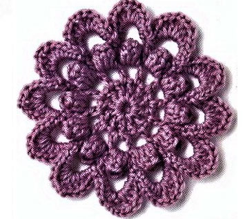 Circle Flower Crochet Pattern ? Crochet Kingdom
