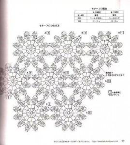 flower motif afghan crochet 1