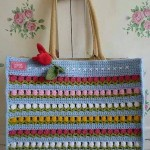 Flower Row Crochet Bag