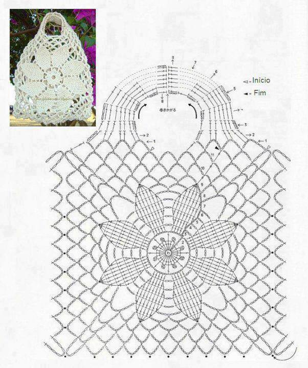 flwoer motif corhct bag