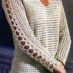 Long Sleeves Crochet Top Pattern