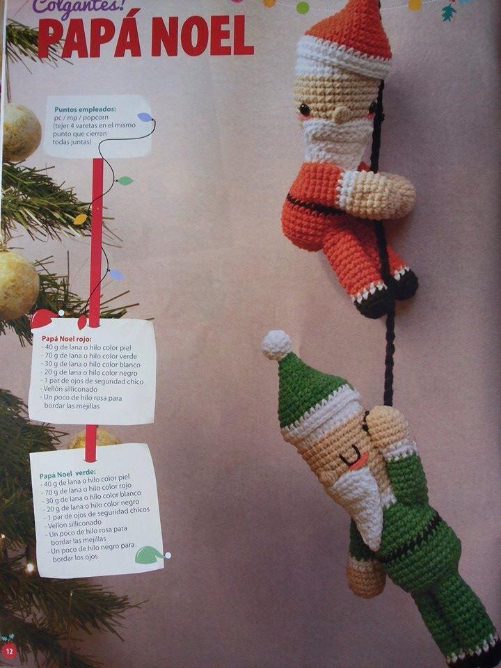 Papa Noel Colgantes ⋆ Crochet Kingdom