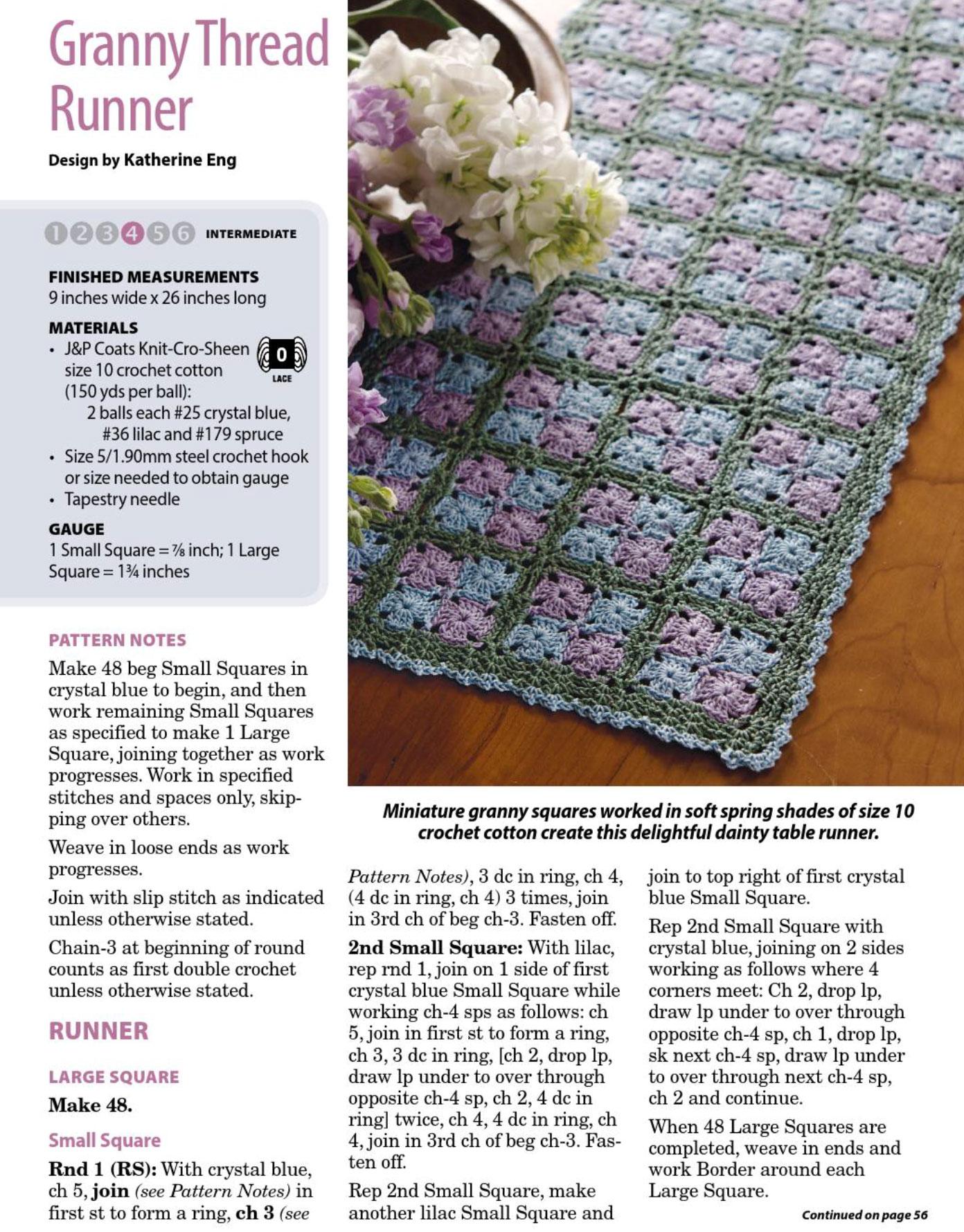 Tiny Granny Table Runner Crochet Pattern ⋆ Crochet Kingdom