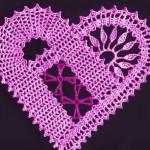 Artistic Crochet Heart Motif