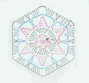 hexagonal-crochet-motif-star-1