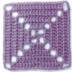 Inverted X - Crochet Square