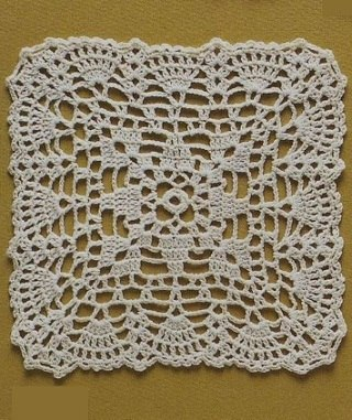 Lace Crochet Square