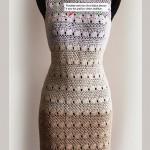 Mesh and Fan Crochet Dress