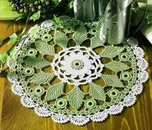 leaf doily crochet