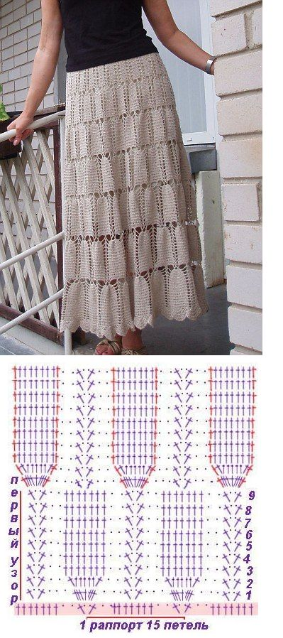 long crochet skirt