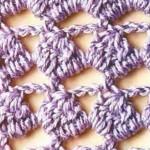 Purple Crochet Stitch Pattern