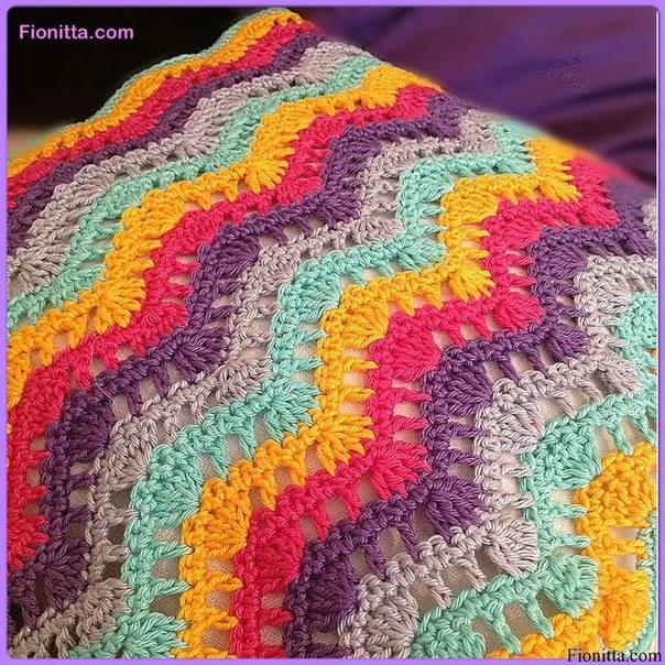 ripple pillow crochet 1