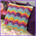 Crochet Pillow Rippled