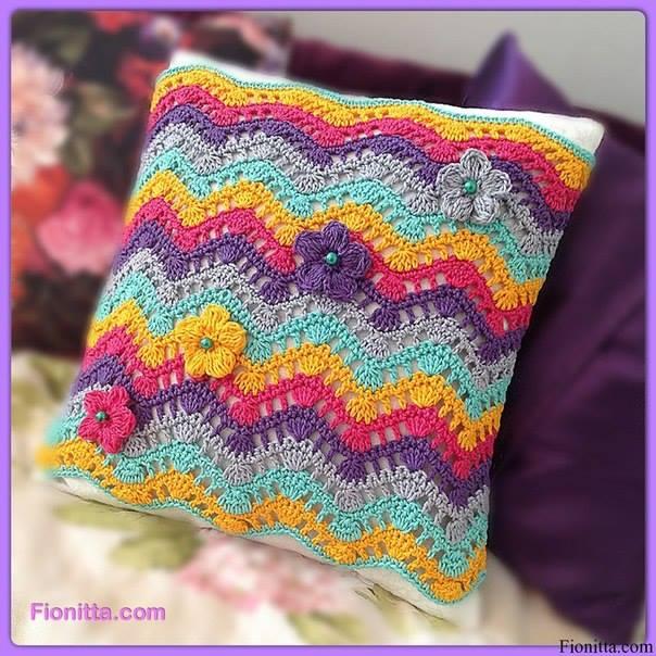 ripple pillow crochet