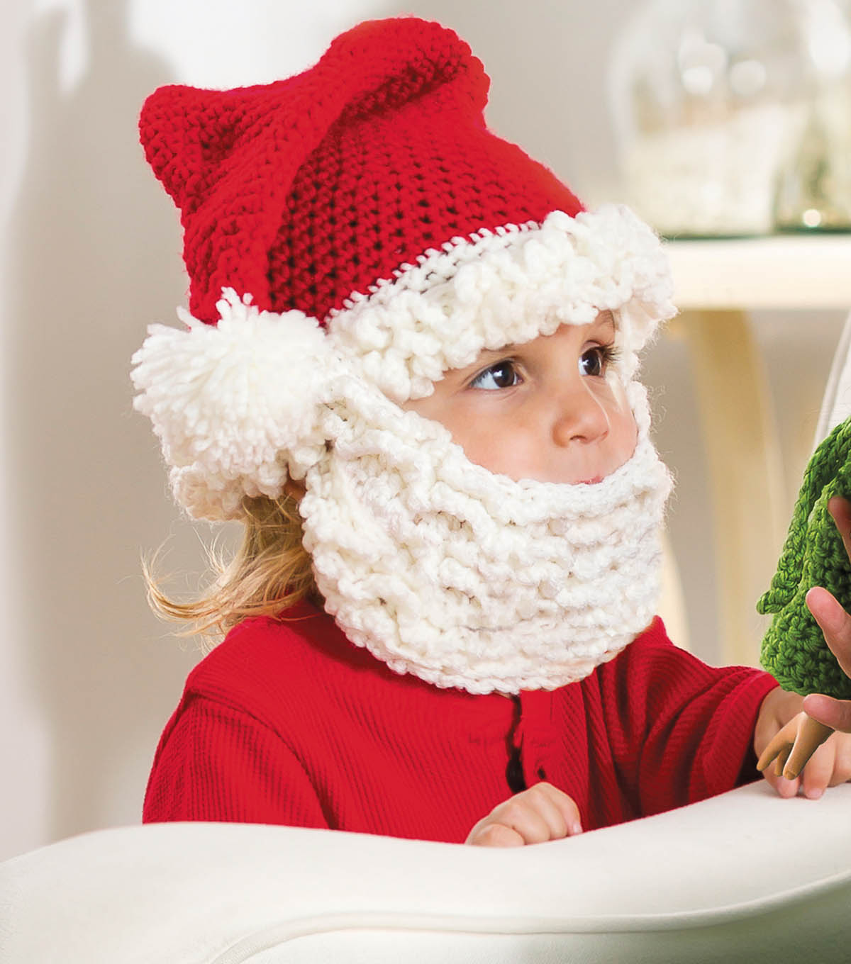 santa hat and beard crochet free pattern