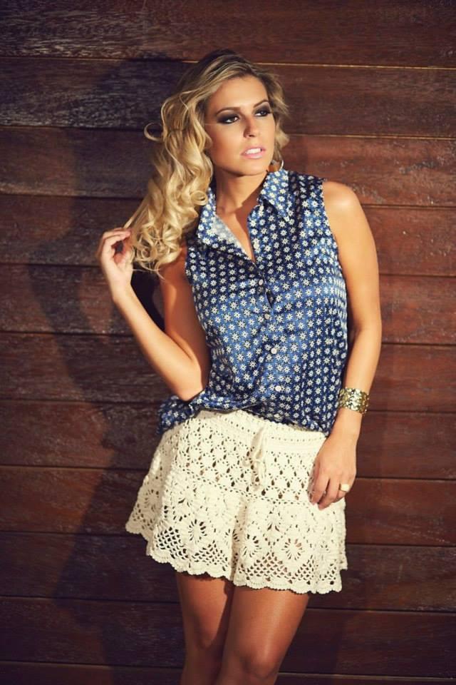 short skirt crochet lace