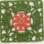 Two Tone Square Crochet