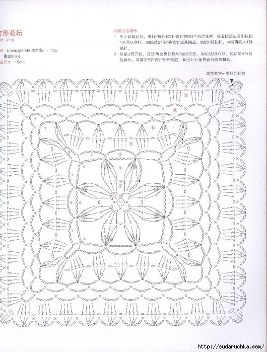 square doily flower inside 1