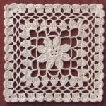 15cm Square Doily