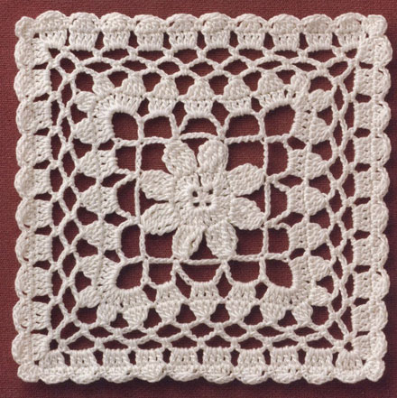 15cm Square Doily ⋆ Crochet Kingdom
